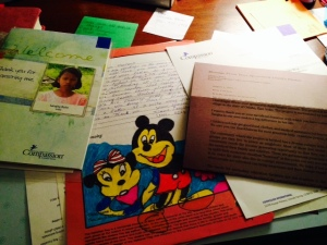 New Mail from Our Compassion International child