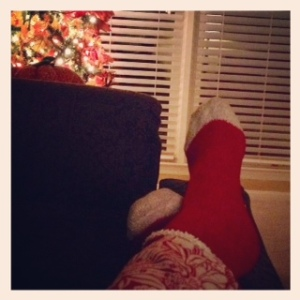 flannel pjs & fuzzy socks - Simple Pleasures...