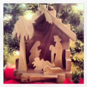 Nativity ornament made in Bethlehem