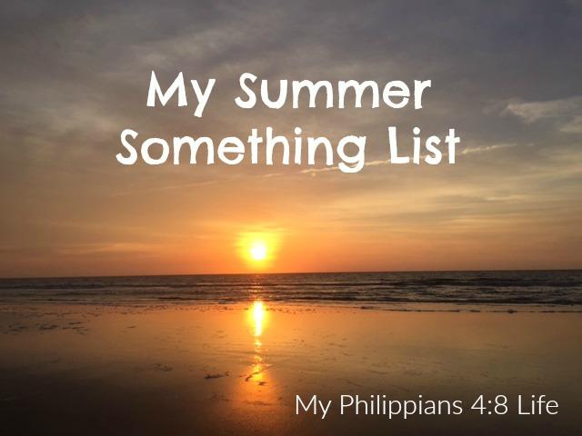 summer something list